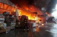 Un violent incendie ravage le marché de matériaux de construction EuroHome -  VIDEO - PHOTOS