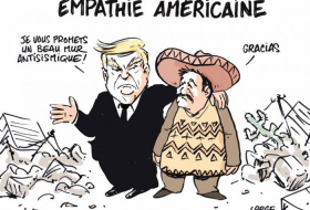 Le mur de Donald Trump - CARICATURE